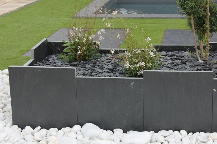 palissade mira en ardoise cliv e 4 c t s sci s plateforme compostage et produits pour jardins. Black Bedroom Furniture Sets. Home Design Ideas
