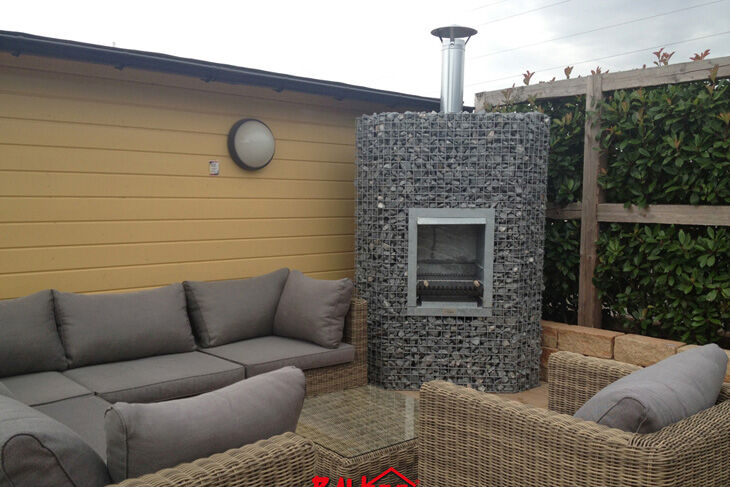 barbecue d 39 angle feu ouvert baugafix 90 x 90 x 180 cm plateforme compostage et produits. Black Bedroom Furniture Sets. Home Design Ideas