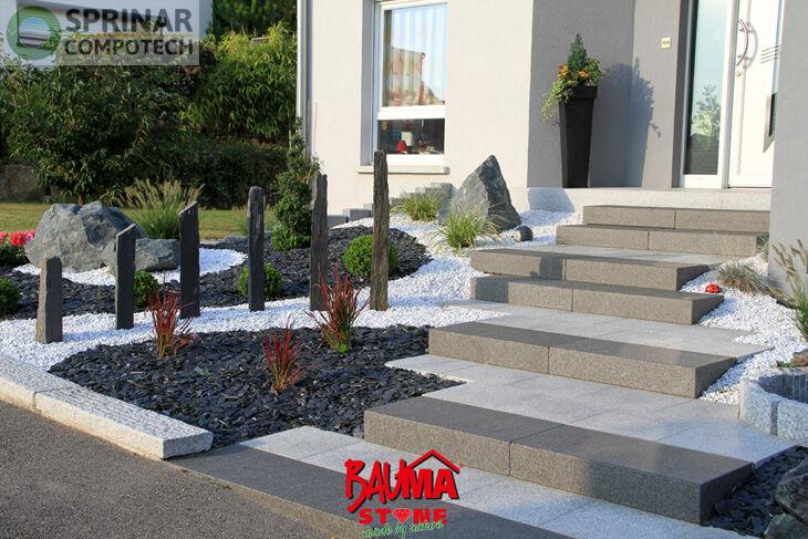 dalle alaska en granit flamm bross et chanfrein plateforme compostage et produits pour. Black Bedroom Furniture Sets. Home Design Ideas