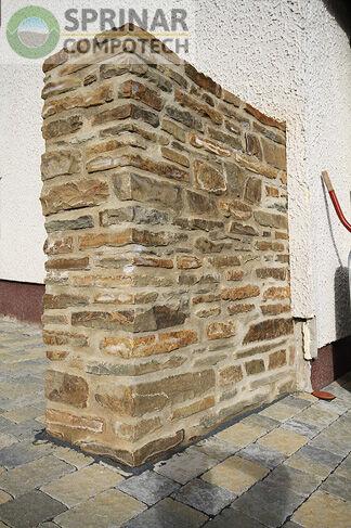 L ment de mur verona en gres brut plateforme compostage for Deco 6 brumath