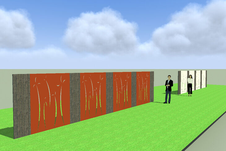 Brise vue pare vue en acier design corten plateforme compostage et produits pour jardins - Brise vue acier corten ...